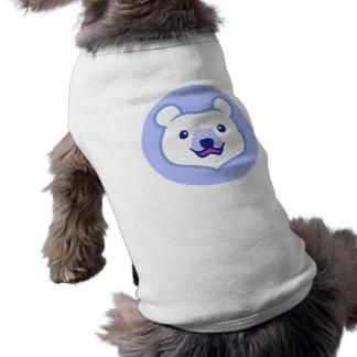 Minimalist Cute Polar Bear Cartoon Dog Tee