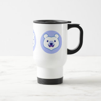 Minimalist Cute Polar Bear Cartoon 15 Oz Stainless Steel Travel Mug