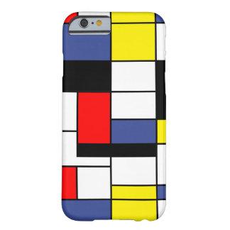 Minimalist de Piet Mondrian Funda De iPhone 6 Barely There