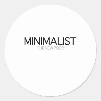 Minimalist (día gris) pegatinas redondas