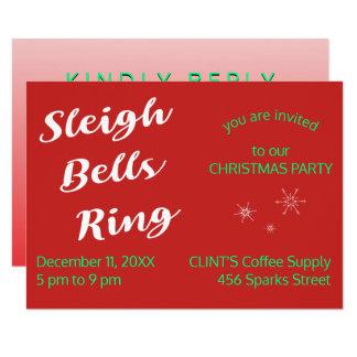 Minimalist Digital Response RSVP Sleigh Bell Party Card