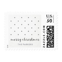 Minimalist Dots | Merry Christmas Postage
