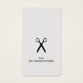 Minimalist Elegant Black and White Hair Stylist Business Card