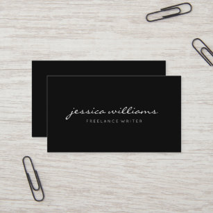 Black business cards zazzle minimalist elegant black business card colourmoves