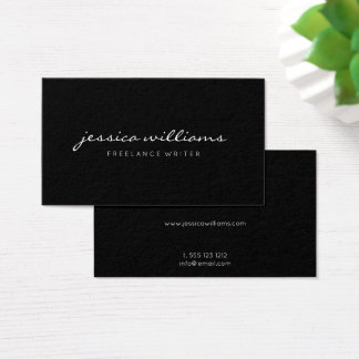 Minimalist Elegant Black Business Card