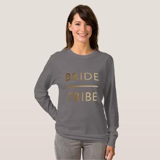 minimalist elegant bride tribe gold foil text T-Shirt