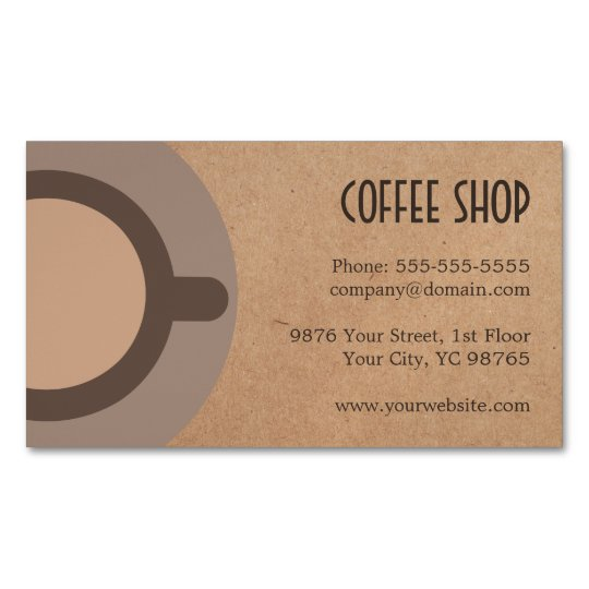 Minimalist elegant brown coffee shop business card magnet zazzle minimalist elegant brown coffee shop business card magnet reheart Gallery