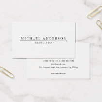 Minimalist Elegant Business Card