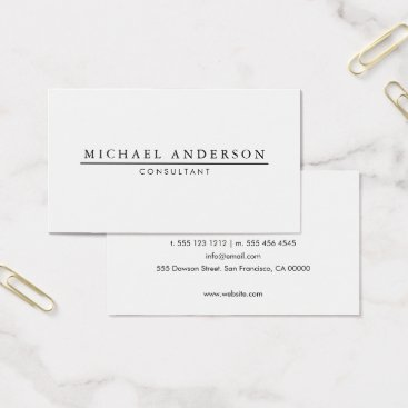 crispinstore Minimalist Elegant Business Card