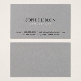 Premium business cards templates zazzle minimalist elegant gray premium business card reheart Choice Image