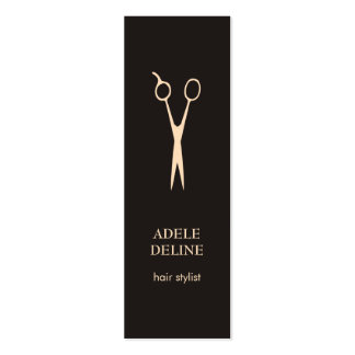 Minimalist Elegant Hair Stylist Business Card Pack Of Skinny Business Cards