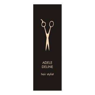 Minimalist Elegant Hair Stylist Mini Business Card