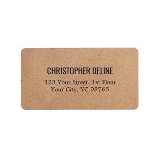 Minimalist Elegant Kraft Paper Label