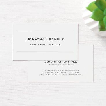 Lawyer Themed Minimalist Elegant Monogrammed Plain Design Doctor Business Card