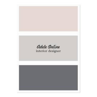 Minimalist Elegant Plain Interior Designer Large Business Cards (Pack Of 100)