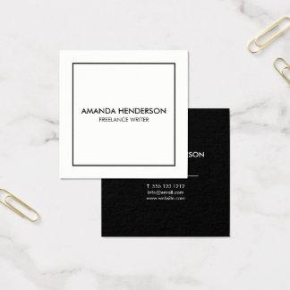 Minimalist Elegant Professional Square Square Business Card