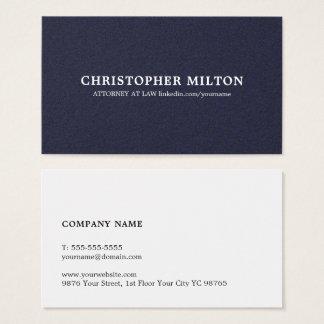 minimalist elegant texture blue consultant business card
