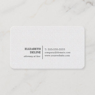 Textured business cards zazzle minimalist elegant texture white attorney at law business card colourmoves
