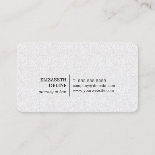 Minimalist elegant texture white attorney at law business card minimalist elegant texture white attorney at law business card reheart Images
