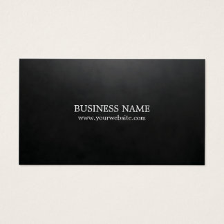 Minimalist Elegant Textured Black Consultant Business Card