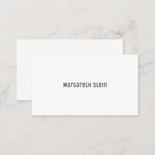 Elegant black and white script font business card zazzle minimalist elegant unica one font style white business reheart Image collections