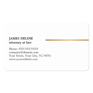 Minimalist Elegant White Copper Line Attorney Business Card