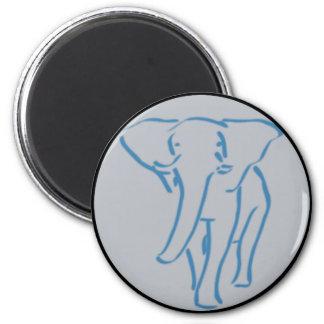 minimalist elephant drawing 2 inch round magnet