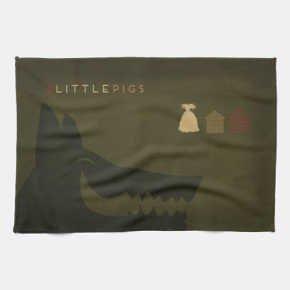 Minimalist Fairy Tales | The 3 Little Pigs Hand Towel