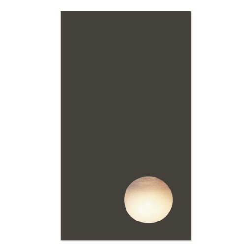 Minimalist Faux Gold Leaf Circle Business Card