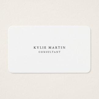 Minimalist Feminine Black & White Professional Business Card