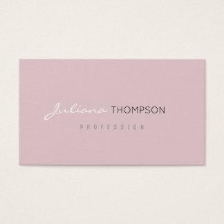 minimalist feminine pale pink women prof business card