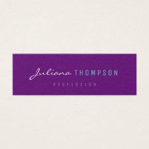 Women business cards templates zazzle minimalist feminine purple women prof mini business card colourmoves Gallery