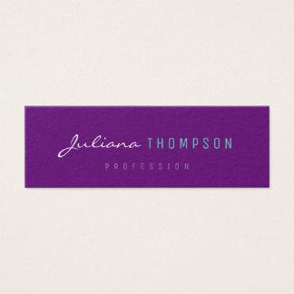 minimalist feminine purple women prof mini business card