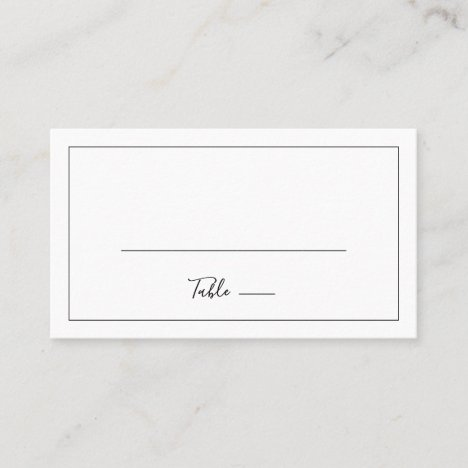 Minimalist Flat Wedding Place Card