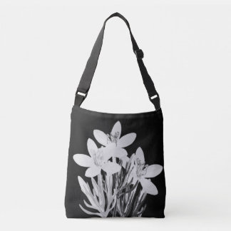 Minimalist Floral B & W Custom Cross Body Bag