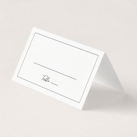 Minimalist Folded Wedding Place Card