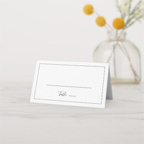 Minimalist Folded Wedding Place Card