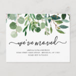 Minimalist Foliage We've Moved New Home Moving Announcement Postcard
