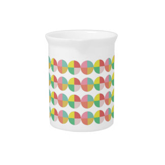 Minimalist Geometric colorful pattern Drink Pitcher