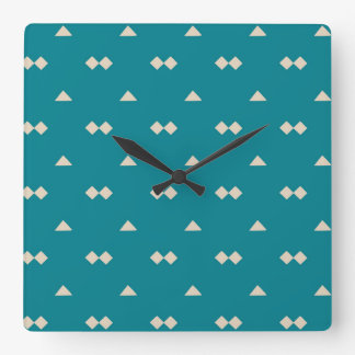 Minimalist Geometric Shape Seamless Pattern 29 Square Wall Clock