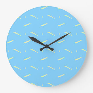 Minimalist Geometric Shape Seamless Pattern 3 Large Clock