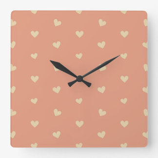 Minimalist Geometric Shape Seamless Pattern 5 Square Wall Clock