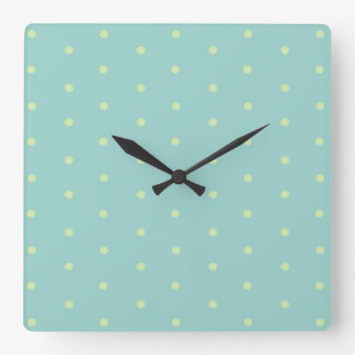 Minimalist Geometric Shape Seamless Pattern 7 Square Wall Clock