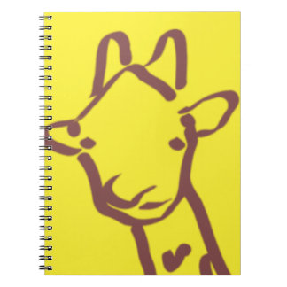 minimalist Giraffe Drawing Notebook
