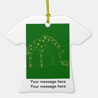 Minimalist Giraffe - Green Ornament