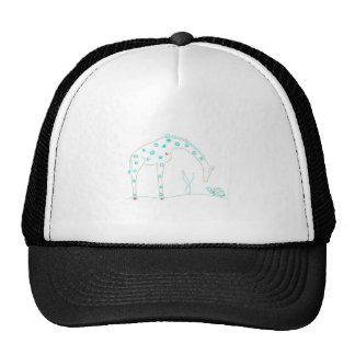 Minimalist Giraffe - White and Aqua Trucker Hat