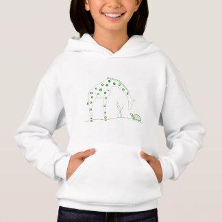 Minimalist Giraffe - White and Green Hoodie