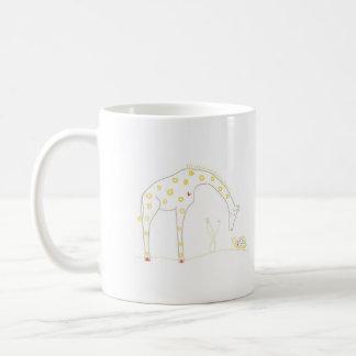 Minimalist Giraffe - White and Yellow Mug