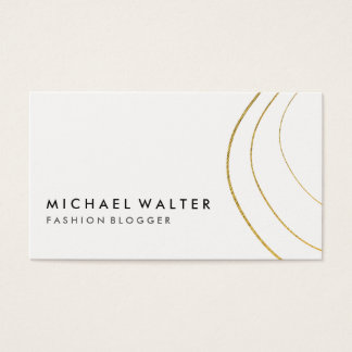 Minimalist Gold Artistic Lines Business Card