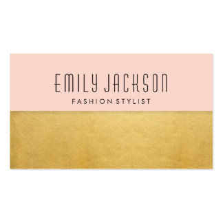 Minimalist Gold - Pink Business Card